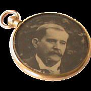 SALE Edwardian 15k Gold Double Sided Photo Locket Pendant