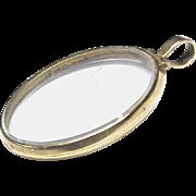 SALE Large Antique Georgian Pinchbeck Locket Pendant