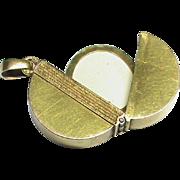 Antique Victorian French 18k Gold Photo Locket Pendant