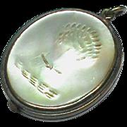Antique Georgian Mother of Pearl WheatSheaf Pendant