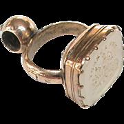 Antique Georgian Gold Filled Cherub / Cupid selling hearts Intaglio Seal