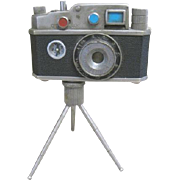 Oriental Photo Lite mini camera shaped lighter with tripod and compass