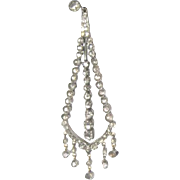 Vintage pair of dangle multi diamond earrings set in 9k yellow and white gold with appraisal