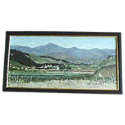 Oil on Board painting of California Ortega Hwy. by De La Tour