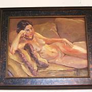 SALE Nude portrait of  Olivia by California artist Sterling Hoffmann