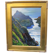 REDUCED Sterling Hoffmann oil on board painting of Bodega Bay