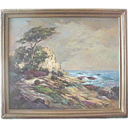 Florence Upson Young Seascape oil of Carmel California