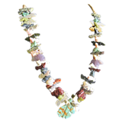 Native American Shoshone tribal fetish necklace