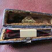 SALE Colossus Pipe Factory Art Deco bakelite cigar holder original case
