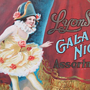Lyon's Gala Night Assortment Tin with a Ballerina on the lid