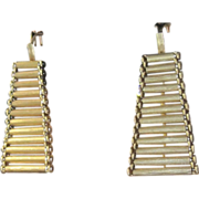 Fabulous flexible dangle Italian 18k yellow gold earrings