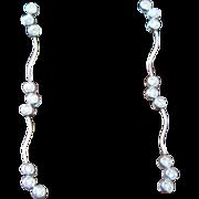 Vintage 18k White Gold and Diamond dangle earrings