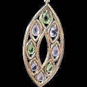 Big14k yg dangle earrings with briole amethyst &  peridot