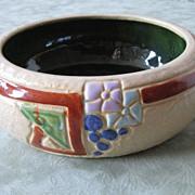 Roseville mostique art pottery planter bowl
