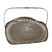 SALE Sterling Silver Vintage   Pierced Basket