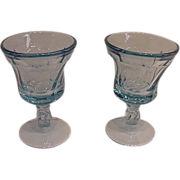 Fostoria Jamestown Blue Juice Glasses