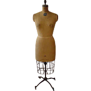 SALE Vintage Mannequin Dress Form With metal cage  shirt