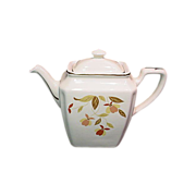 Hall  Autumn Leaf Newport Teapot new in Box With Salesmans Plaque