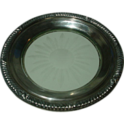 Vintage Whiting & Company Sterling Rimmed  Plate