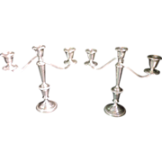Sterling Silver Triple Candelabra's