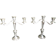 A Pair Of Sterling Candelabra's By  Fischer