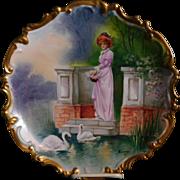 L.R.L. Limoges France Charger Signed By Artist Bazanan