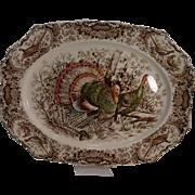 Johnson Brothers Native American Wild Turkey Platter