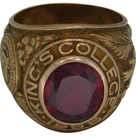 Kings Furniture Pa Kings College Men's Graduation Ring 10K from susieantiques on Ruby ...