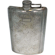 Wallace Sterling Silver Art Deco  Flask