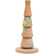 Roseville Futura Orange Christmas Tree with Globes and Triangles #390-10, Ca 1924
