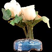Weller Glossy Blue Flower Frog