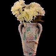 Weller Pottery 1920's Silvertone Dogwood Vase
