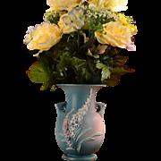 Roseville Pottery 1942 Blue Pink Foxglove Vase #50-9