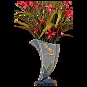 REDUCED Roseville Pottery 1948 Blue Wincraft Vase #273-8