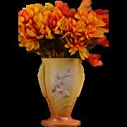 Roseville Pottery 1937 Ixia Yellow Flaring Vase #854-7
