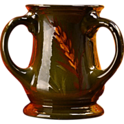 1905 McCoy Loy Nel Art Pottery 3 Handle Standard Glaze Wheat Loving Cup Mug