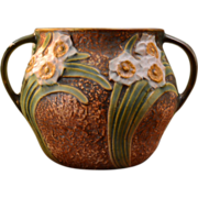 Roseville Pottery 1931 Jonquil Handled Vase #525-5