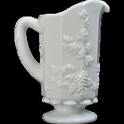 Westmoreland Paneled Grape Opaque Milk Glass Pitcher #1881