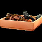 1949 Roseville Pottery Florane II Etruscan Ashtray Tan Orange #93-7