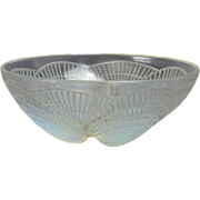 Lalique Crystal Bowl Coquilles Shells Signed R Lalique 3200, 1920's