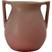 Rookwood Pottery Vase Matt Dusty Pink 2 Handle (Shape 63), 1926