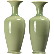Rookwood Pottery Vases Celadon Green (Shape #216), 1942