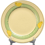 Roseville Pottery Juvenile Baby Chick Plate, 1910-20