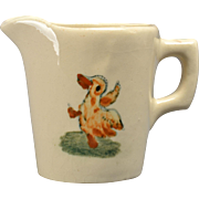 Weller Pottery Pitcher Zona Child's Pitcher with Dancing Duck, 1920