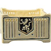 Weller Pottery 1915 Creamware Lion Crest Square Bowl Planter