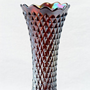 Northwood 1900s Amethyst Carnival Diamond Vase