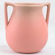 Rookwood Pottery Mat Pink 2 Handle Vase Shape 63, 1928