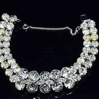 SALE Vintage Eisenberg Crystal Rhinestone Bracelet