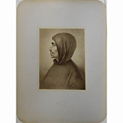 Antique Albumen Photo Of Savonorola Painting