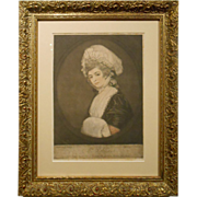 1781 Color Engraving Of Mrs. Robinson By Romney